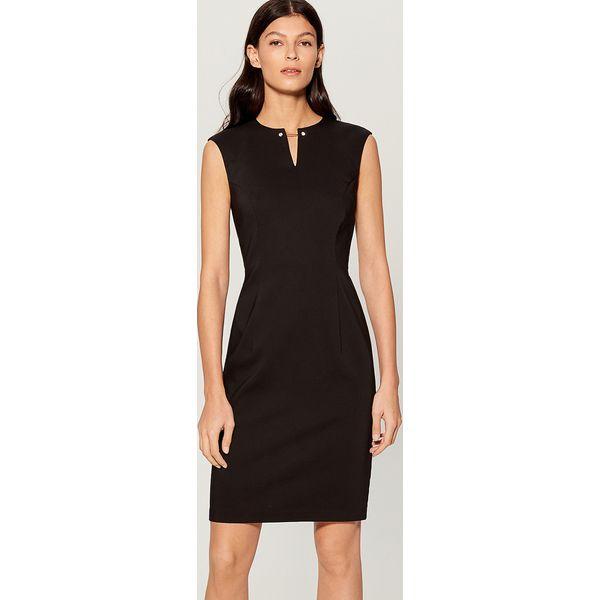 1292bf9028 Sukienka midi z biżuteryjną ozdobą - Czarny - Sukienki damskie marki ...