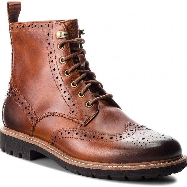 e42e8b7d56f6c Kozaki CLARKS - Batcombe Lord 261271907 Dark Tan Leather - Buty ...