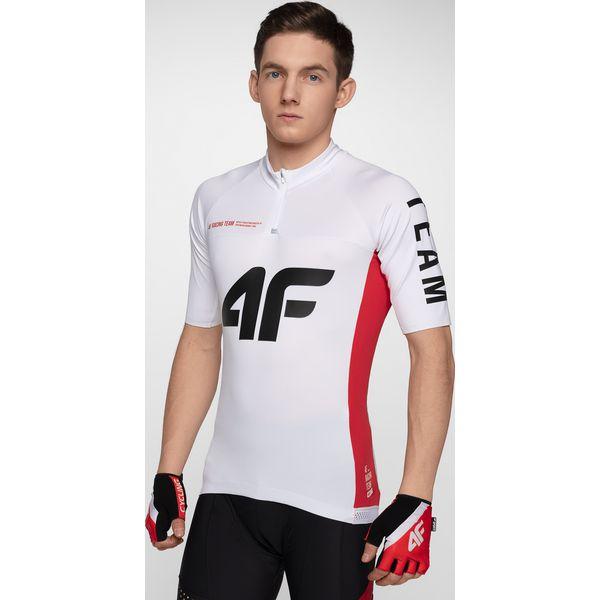 e3fac824f62402 Koszulka rowerowa męska RKM151 - biały - T-shirty sportowe męskie 4f ...