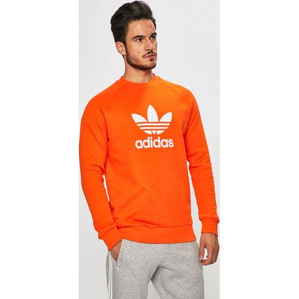 bluza adidas pomarańczowa męska z kapturem
