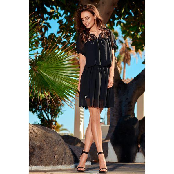 Elegancka szyfonowa sukienka mini