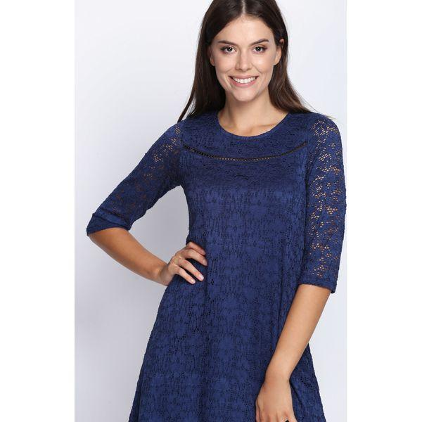 e48b66261a Granatowa Sukienka Ready For You - Niebieskie sukienki damskie marki ...
