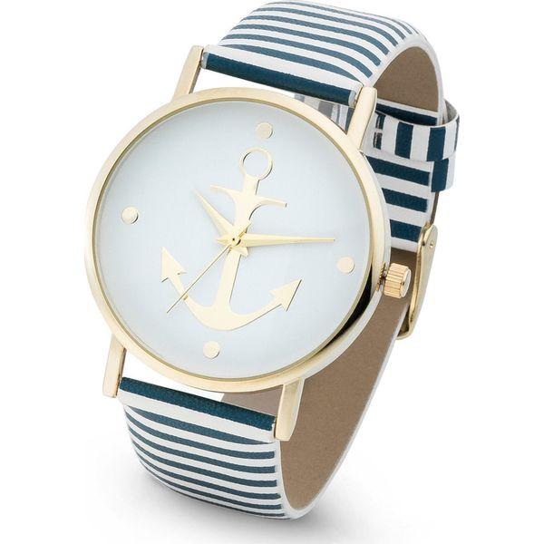 c7b41d39b989c1 Zegarek na pasku w paski bonprix niebiesko-biały - Zegarki damskie ...