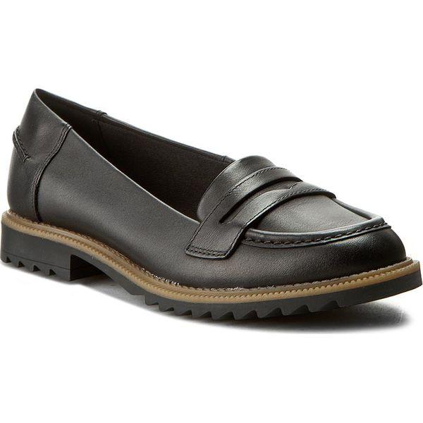 7282da9da Półbuty CLARKS - Griffin Milly 261011014 Black Leather - Półbuty ...