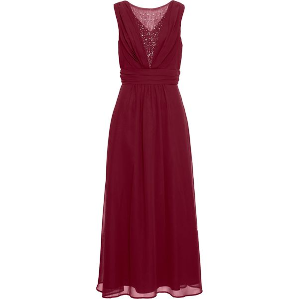 a38d076f10 Długa sukienka bonprix ciemnoczerwony - Sukienki damskie marki ...