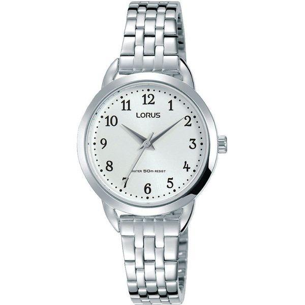 Tylko na zewnątrz Zegarek Lorus RG235NX9 Klasyczny damski srebrny - Zegarki damskie QY12