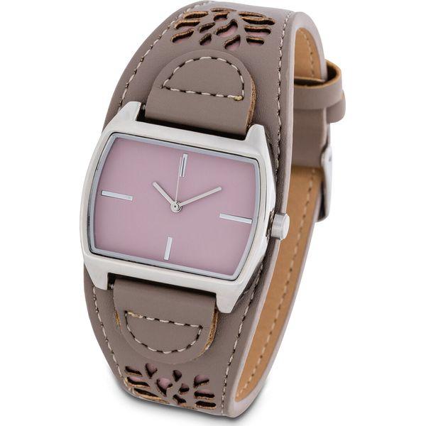2a42b36065a92f Zegarek na rękę na pasku z wycinanym wzorem bonprix brunatno-matowy ...