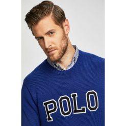 Niebieskie bluzy i swetry męskie Polo Ralph Lauren