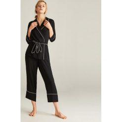 11e6901d74ab39 Piżama ze spodniami - Czarny. Piżamy damskie marki Reserved. W wyprzedaży  za 59.99 zł