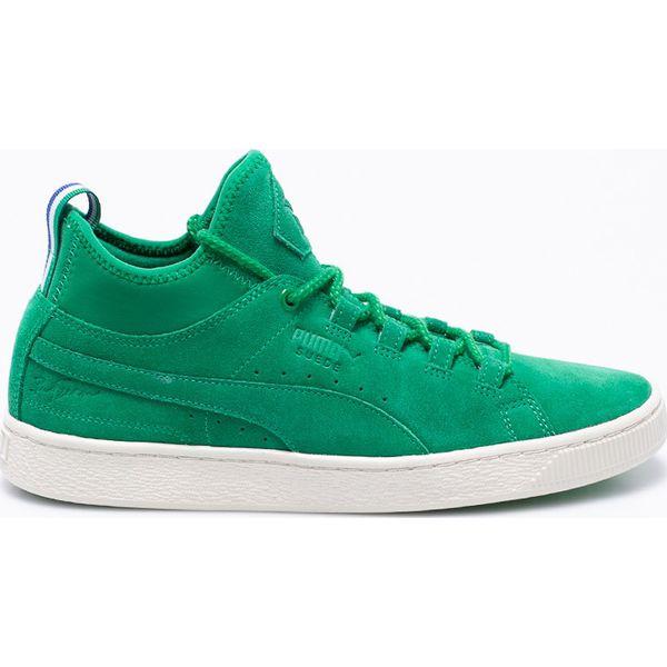 Zielone obuwie męskie Puma, bez zapięcia Kolekcja lato
