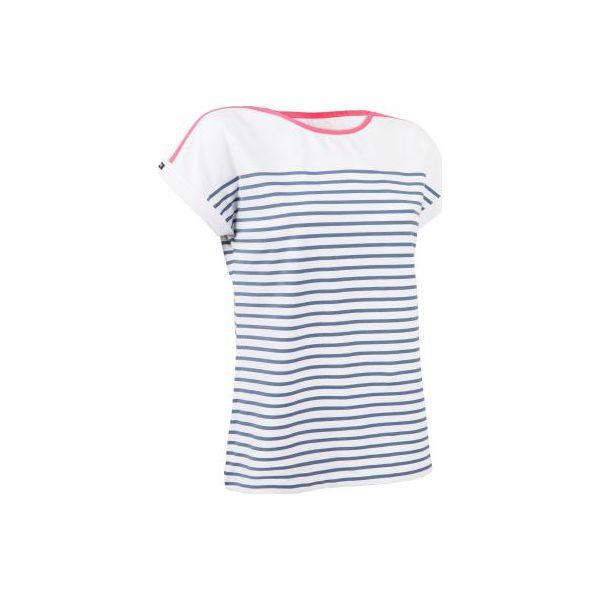 f7d8d20d Koszulka żeglarska krótki rękaw SAILING 100 damska