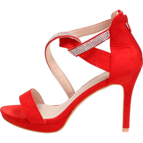 Czerwone sandały damskie SABATINA DM19 4