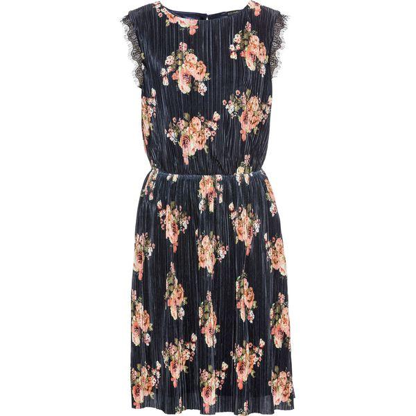 9ae90f90bf Sukienka plisowana w kwiaty bonprix ciemnoniebieski w kwiaty ...