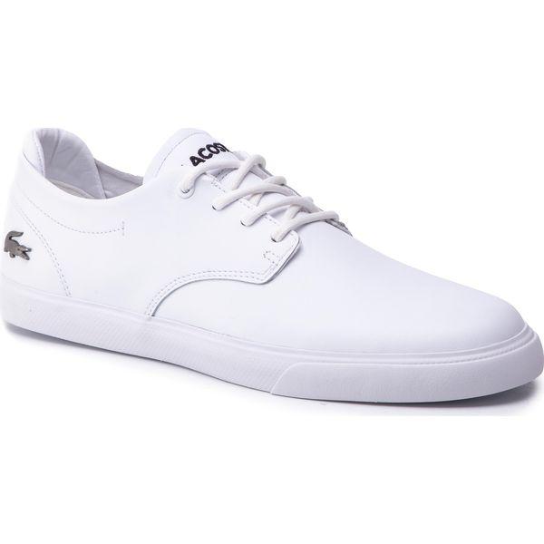 oficjalny dostawca najlepiej sprzedający się buty temperamentu Półbuty LACOSTE - Esparre Bl 1 Cma 7-37CMA009521G Wht/Wht