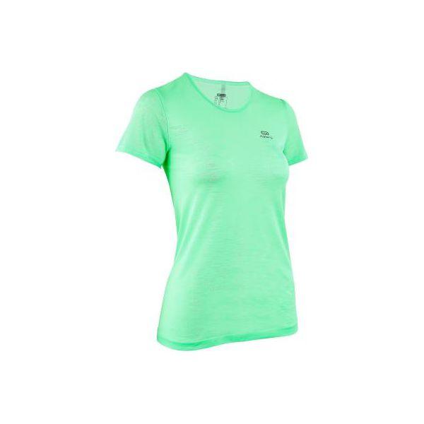 a566e965f8b6cd Koszulka do biegania KIPRUN CARE damska - Niebieskie t-shirty ...