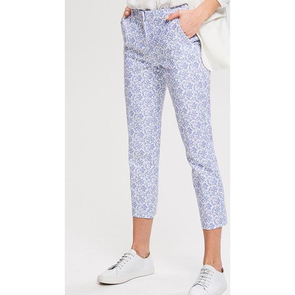 206fe6c40cecfe Wzorzyste spodnie - Granatowy - Spodnie materiałowe damskie Reserved ...