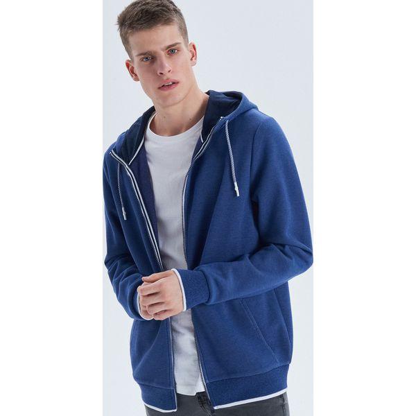 2663254998 Bluza basic z kapturem - Granatowy - Bluzy z kapturem męskie marki ...