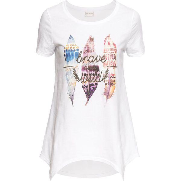 4a5fc8326 T-shirt bonprix biały z nadrukiem - T-shirty damskie bonprix. Za 54.99 zł.  - T-shirty damskie - T-shirty i topy damskie - Odzież damska - Kobieta -  Sklep ...