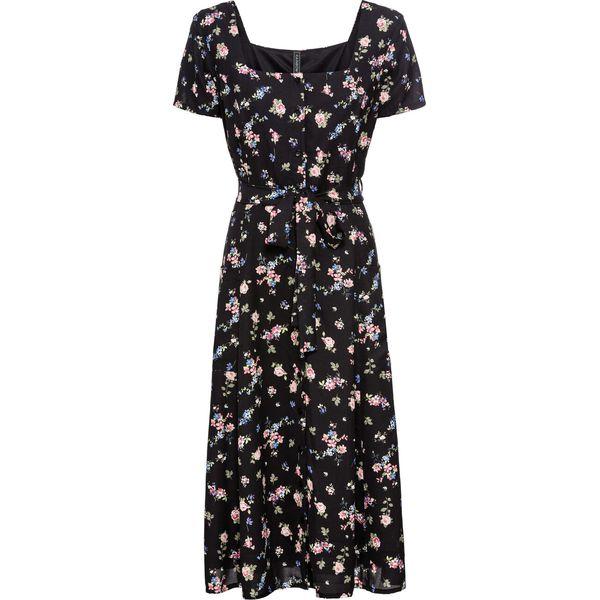 825882a09d Sukienka midi bonprix czarny z nadrukiem - Sukienki damskie marki ...