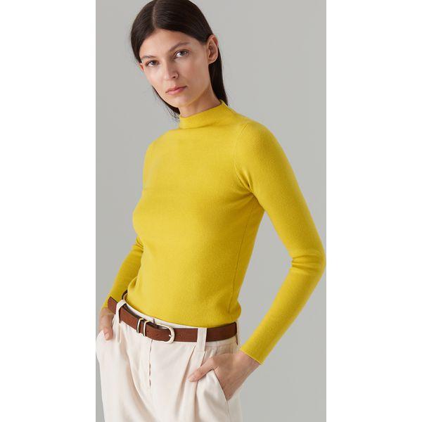 46e26cc7 Dopasowany sweter z półgolfem - Zielony
