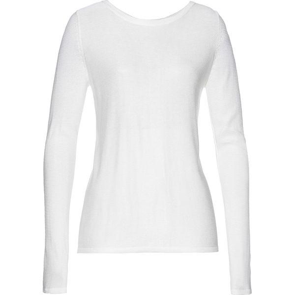 Topnotch Sweter z cekinami bonprix biel wełny - Swetry klasyczne damskie PL38