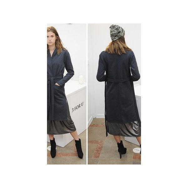 8185919a72 Płaszcz SIMPLE long coat czarny - Płaszcze damskie marki 3 for u. Za ...