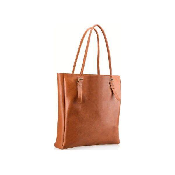 bfee51e078d95 Ręcznie szyta brązowa torebka skórzana typu shopperka