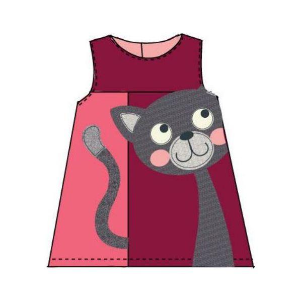Super Carodel Sukienka Dziewczęca Z Kotem 74 Różowa - Sukienki MM03