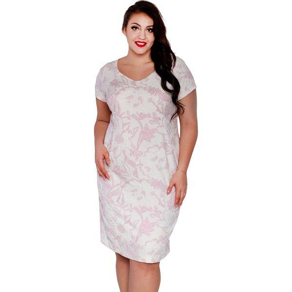c14706d6 Elegancka żakardowa sukienka ELENA duże rozmiary OVERSIZE PLUS SIZE