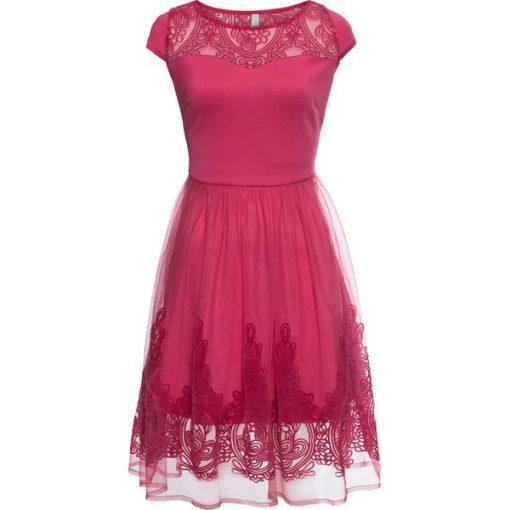 26416d4e1122f Sukienka koronkowa bonprix czerwony - Czerwone sukienki damskie ...