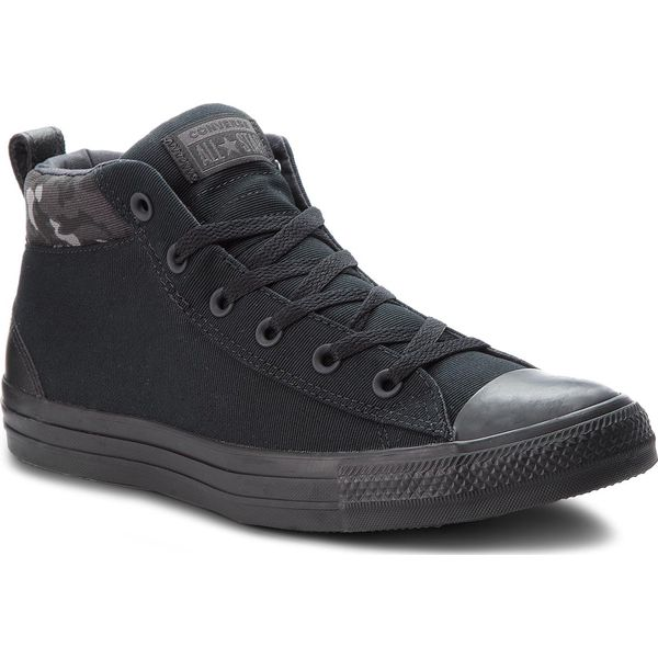 ea208a032821b Trampki CONVERSE - Ctas Street Mid 161464C Black/Almost Black/Black ...