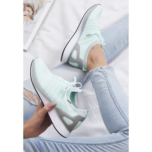 b6e3842b9f1933 Miętowe Buty Sportowe Lush Life - Zielone buty sportowe na co dzień ...