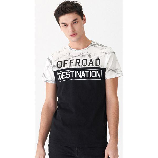 737d1b134c T-shirt z nadrukiem - Czarny - T-shirty damskie marki House. Za ...