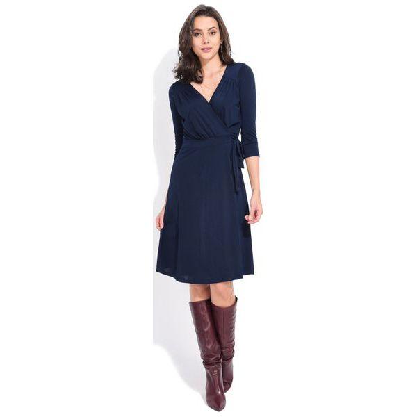9c7375b41c Fille Du Couturier Sukienka Damska Estelle 38 Ciemnoniebieski - Sukienki  damskie marki Fille Du Couturier. W wyprzedaży za 168.00 zł.