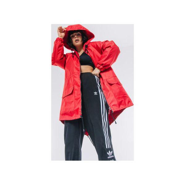 Kurtka płaszcz typu parka czerwona