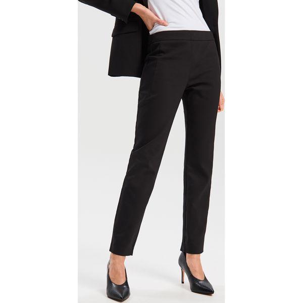 0550680ac01f7 Gładkie spodnie - Czarny - Spodnie materiałowe damskie marki ...