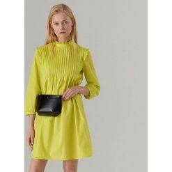 c3ac27606c Bawełniana sukienka ze stójką - Żółty. Sukienki damskie marki Mohito. Za  159.99 zł.