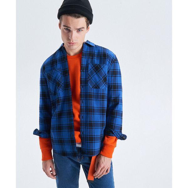 522d91959c7a7a Koszula w kratę z kolekcji Night Animals - Granatowy - Koszule ...