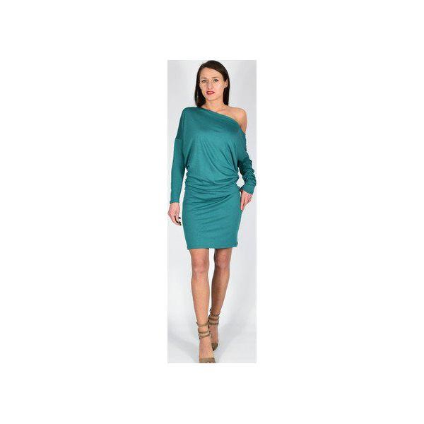 57a7716e4f KATIA - XS - 4XL   dzianinowa sukienka - morska zieleń - Sukienki ...