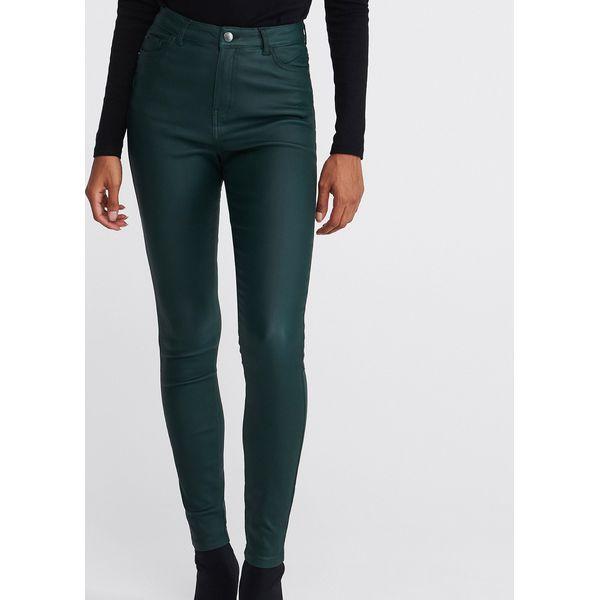 Woskowane spodnie Zielony