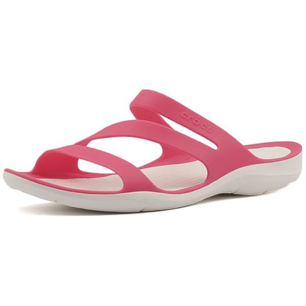 006621691aad Crocs Kobiety Swiftwater Sandal Paradise Pink   White 203998-6nr ...