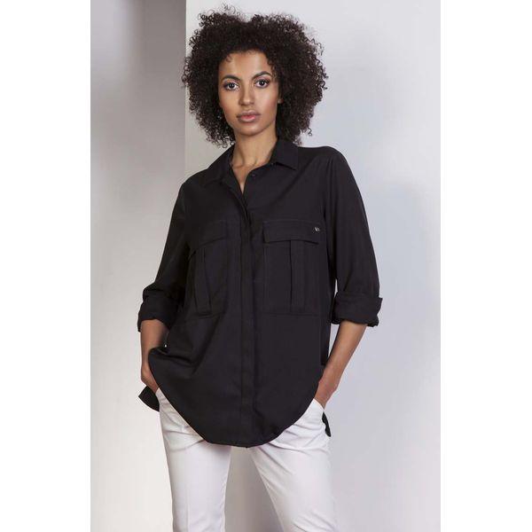 9895876e1b Czarna Koszula Oversize z Kieszeniami - Koszule damskie marki Molly ...
