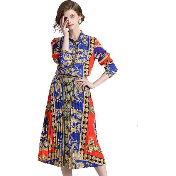9d390c34fb Sukienka w kolorze niebiesko-czerwonym ze wzorem - Czerwone sukienki ...