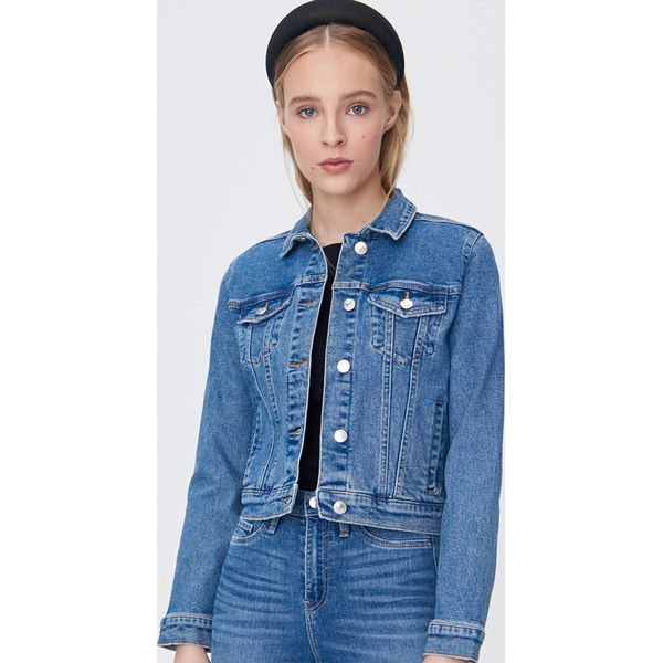 Klasyczna kurtka jeansowa Niebieski