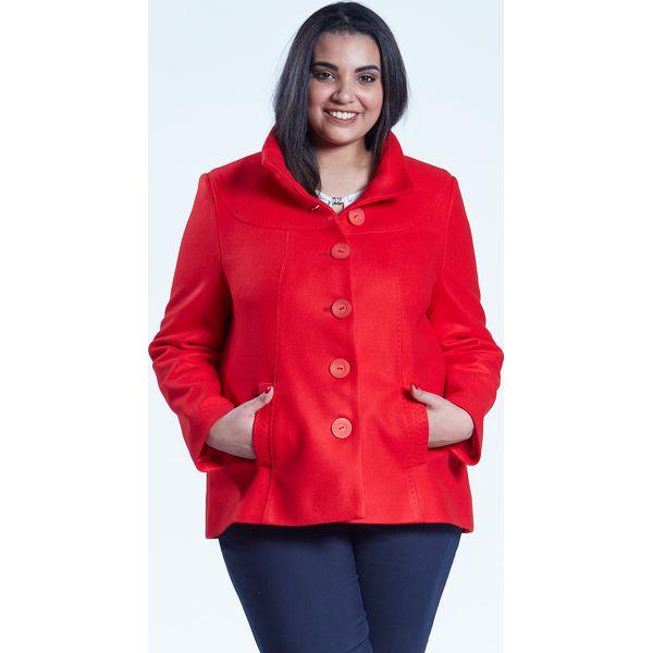 2acc4253d2 Czerwona elegancka kurtka płaszcz Vera OVERSIZE PLUS SIZE WIOSNA ...
