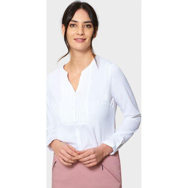 b1af7e13b3b067 Biała elegancka bluzka z zakładkami - Bluzki damskie marki ...