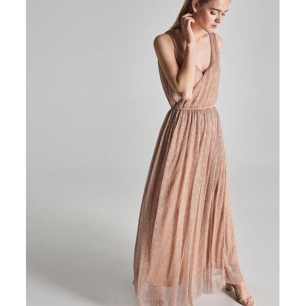 37189ad296 Długa sukienka na ramiączkach - Kremowy - Sukienki damskie marki ...