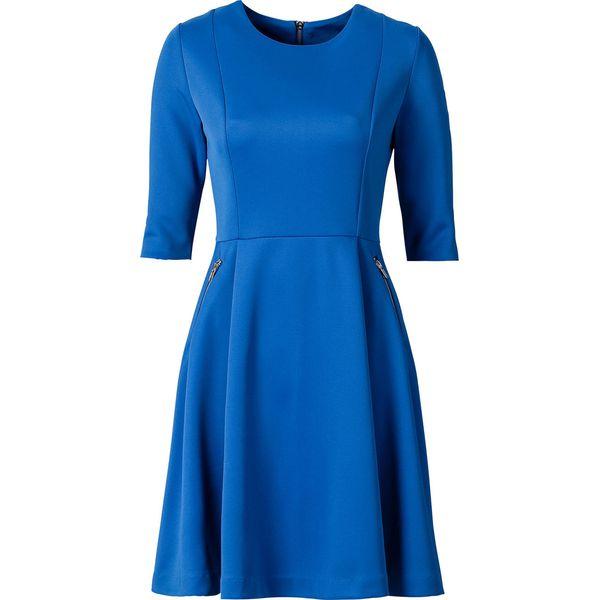 3478a378f1 Sukienka neoprenowa bonprix lazurowy - Niebieskie sukienki damskie ...