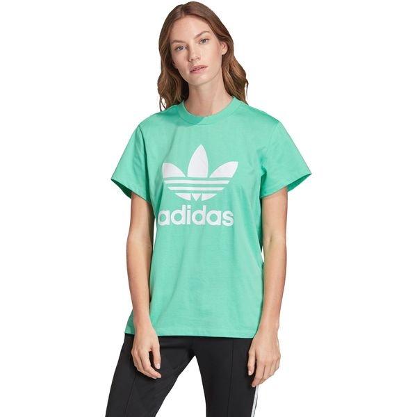 adidas Originals Boyfriend Trefoil Koszulka Zielony