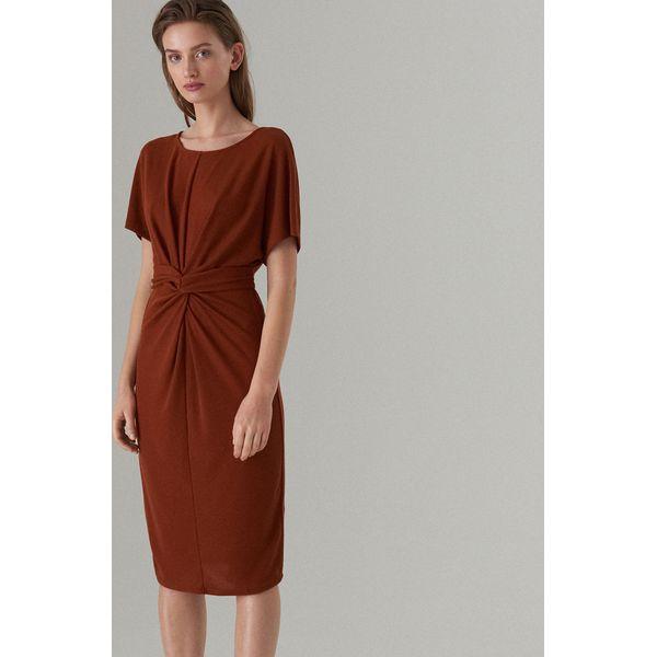 c0096cc898 Midi sukienka z węzłem - Brązowy - Sukienki damskie marki Mohito. Za ...